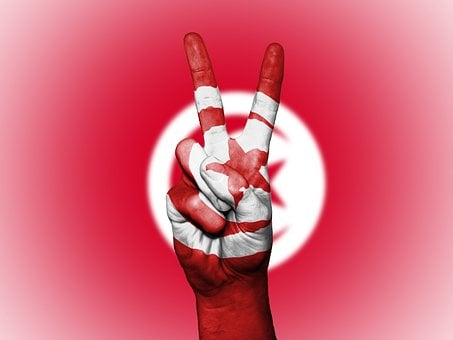Tunisia, Peace, Hand, Nation, Background, Banner