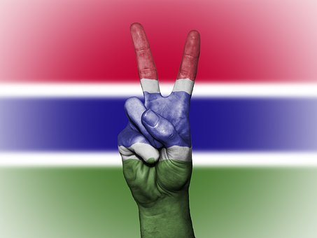Gambia, Peace, Hand, Nation, Background, Banner, Colors