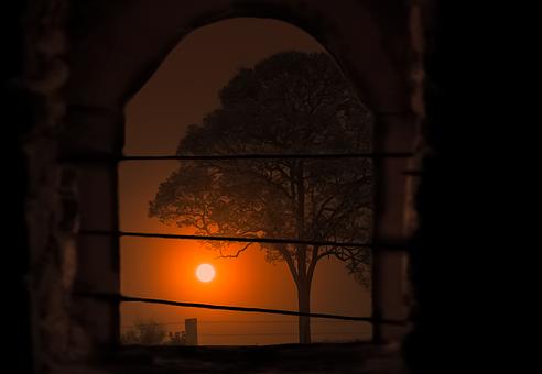 Nature, Landscape, Sunset, Background, Orange, Sun