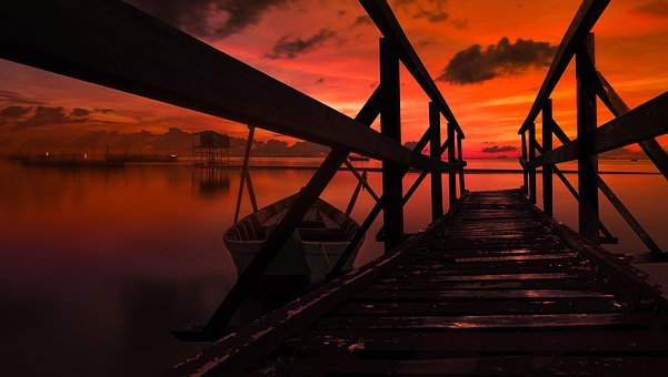 Landscape, Sunset, Nature, Long Exposure, Evening Sky