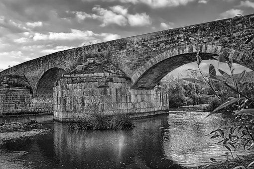 Bridge, Romano, River, Ofanto, Italy, Ancient, History