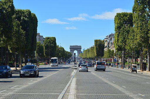 Arc Dear Triomphe, Paris, Blue Sky