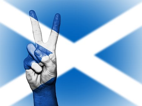 Scotland, Uk, Britain, Peace, Hand, Nation, Background