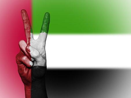 United Arab Emirates, Peace, Hand, Nation, Background