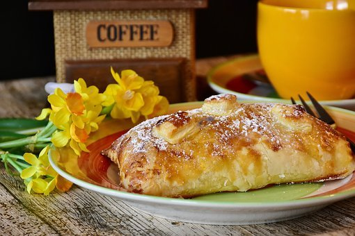 Pastries, Cake, Puff Pastry, Apple Turnover, Coffee