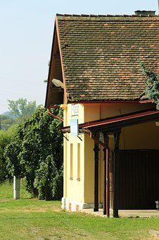 Railway Station, Old, Weathered, Building