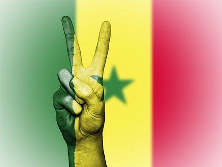 Senegal, Peace, Hand, Nation, Background, Banner