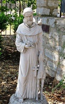 Statue, Saint Francis Of Assissi, Saint, Christian