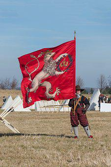 Battle Of Jankau, Historical Costume, The Flag Of The