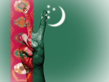 Turkmenistan, Peace, Hand, Nation, Background, Banner