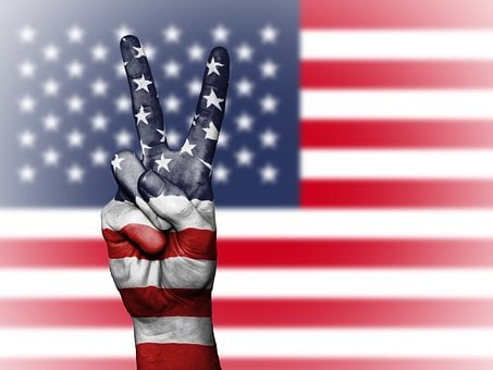 Usa, United States, Us, America, Peace, Hand, Nation