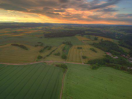 Vöhl, Basdorf, Sunset, Northern Hesse, Landscape