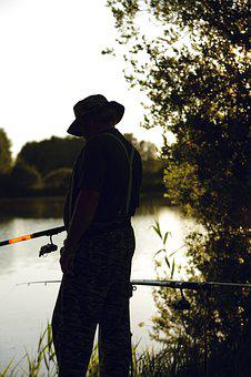 Fish, Man, Water, Fischer, Lake, Fishing, Rest, Nature