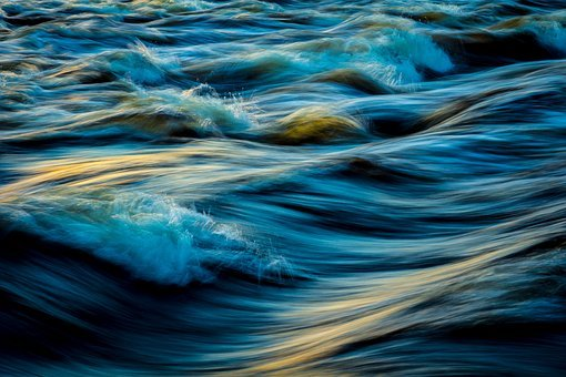 Water, Flowing, Spatter, Flowing Water, Lunto