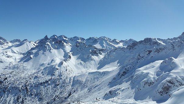 Trettachspitze, Allgäu, Winter, Snow, Mountains