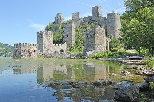 đerdap, Serbia, Castle, River, Old, Golubac, Fortress