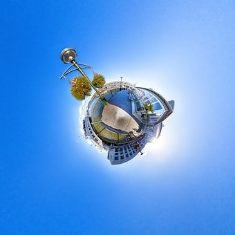 San Francisco, Little Planet, 360, America, Blue