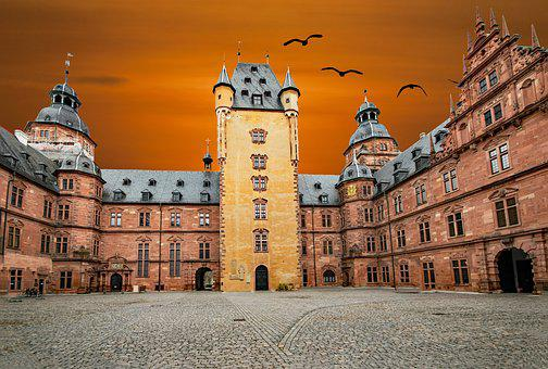 Aschaffenburg, Castle, Lower Franconia, Bavaria