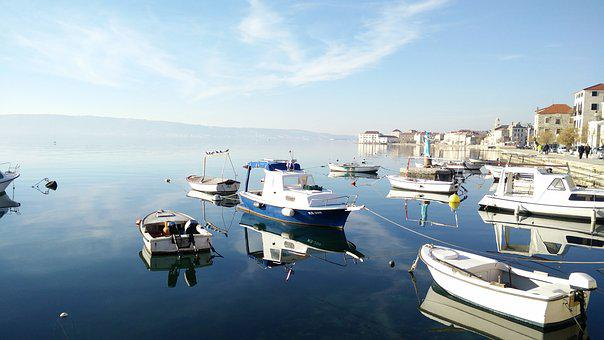 Boats, Adriatic Sea, Kastela