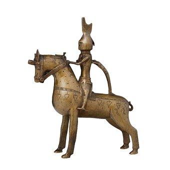 Sculpture, Vessel, Figure, Knight, Horse, Bronze