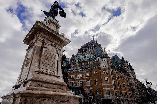 Frontenac, Champlain, Quebec, City, Castle, Old Town