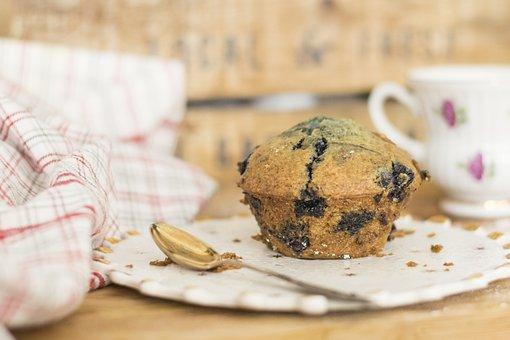 Blueberry, Muffin, Muffins, Blueberry Muffin, Dessert