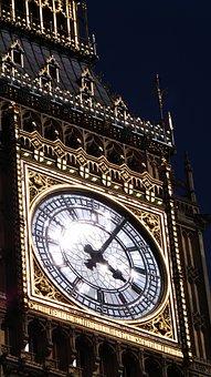 Evening, Big Ben, Westminster Clock, Clock, England
