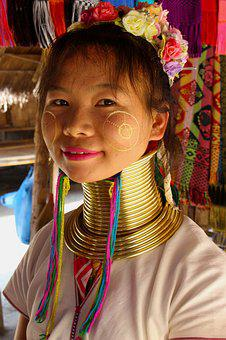 Long Neck, Woman, Karen Tribe, Young, Female, Fashion