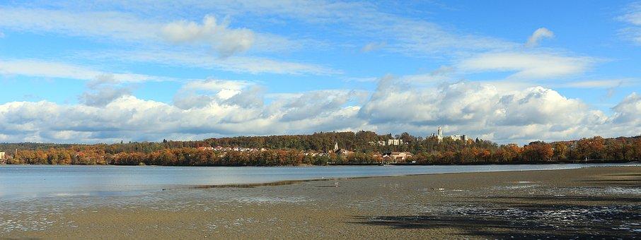 Landscape, Pond, Fish Pond, Autumn, Hluboka Nad Vltavou