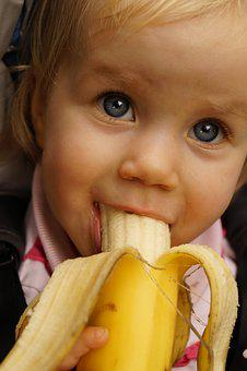 Child, Banana, Cute, Funny, Children, Fruit, Eat