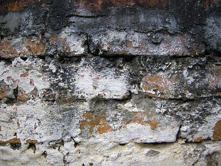 Old Brick, Aged, Wall, Texture, Grunge, Concrete, Rough