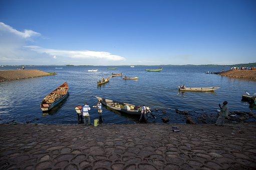 Uganda, Lake Victoria, Ggaba Landing Site, Lake