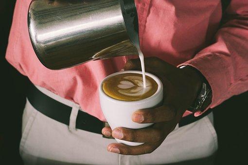 Coffee, Cappuccino, Cafe, Latte Art, Making Coffee