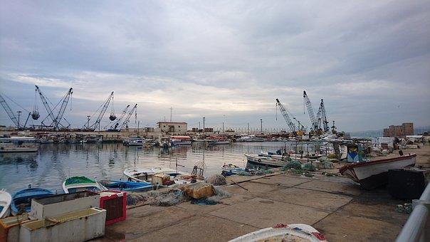 Port, Boats, Ancient, Lebanon, Lebanese, Historical