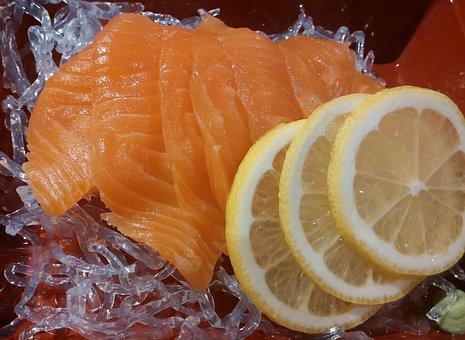 Salmon, Lemon, Cuisine, Fish, Lunch, Dinner, Japanese