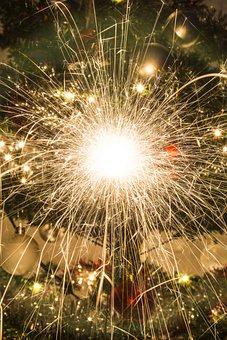 Spark, Lights, Fireworks, Glow, Christmas, Sparkle