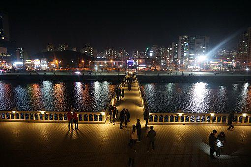 Pohang, Night View, Landscape, Night, City