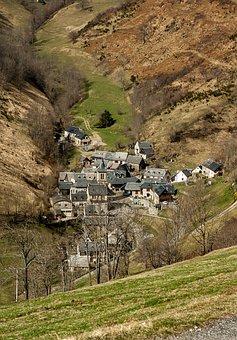 Pyrénées, Béarn, Valley, Village, Pass Aspin