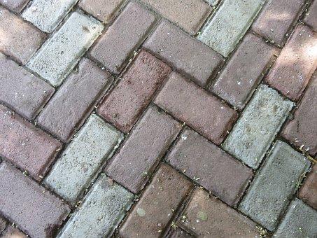 Brick, Texture, Floor, Patio, Pattern, Architecture