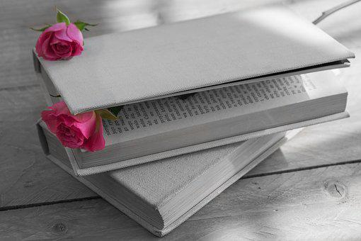 Book, Book A Cloth Cover, Old Book, Book Cover, Rose