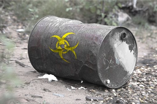 Toxic Waste, Barrel, Broken, Empty, Run, Toxic, Risk