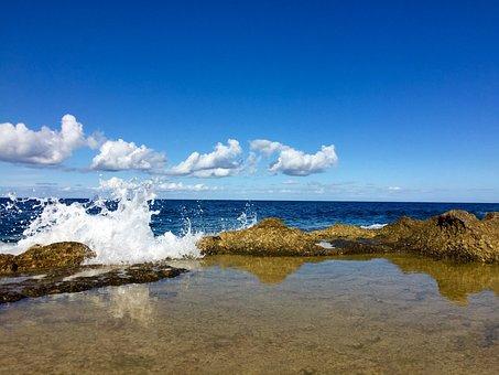Malta, Coast, Sea, Mediterranean, Water, Gozo, Surf