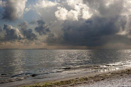 Rain, Indian Ocean, Ocean, Tanzania, Sea, Shore, Coast