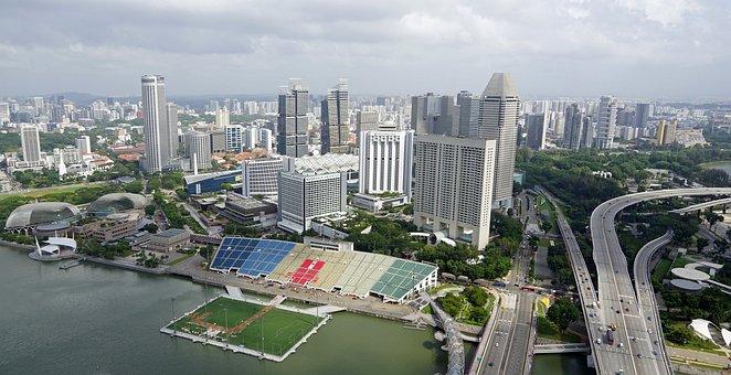 Skyline, Singapore, Skyscraper, City, Architecture
