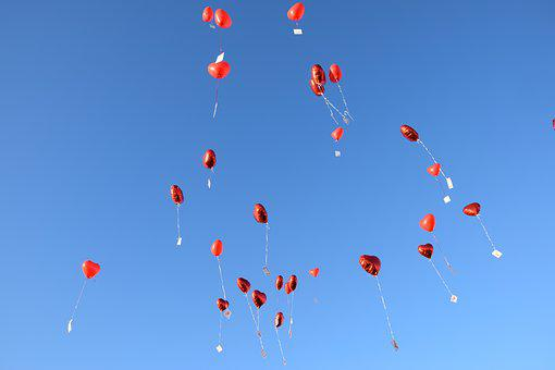 Balloons, Sky, Blue, Balloon, Flap Away, Wedding