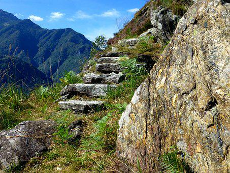 Maggia Valley, Ticino, Mountains, Rock, Stairs, Hiking