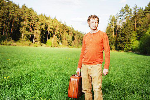 Man, Luggage, Bag, Time, Forward, Piece Of Baggage