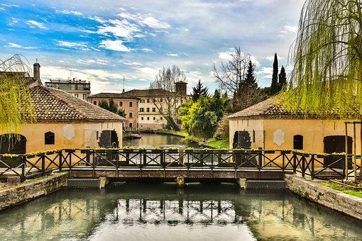 Portogruaro, Veneto, Venice, Italy, Channel, Water