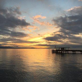 Lake Geneva, Lake, Landscape, Switzerland, Vevey, Water