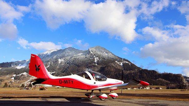 Fly, Airport, Allgäu, Glider Pilot, Agatha Cell